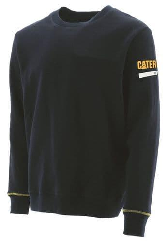 Caterpillar Essentials Crew Neck Sweat Shirts Black
